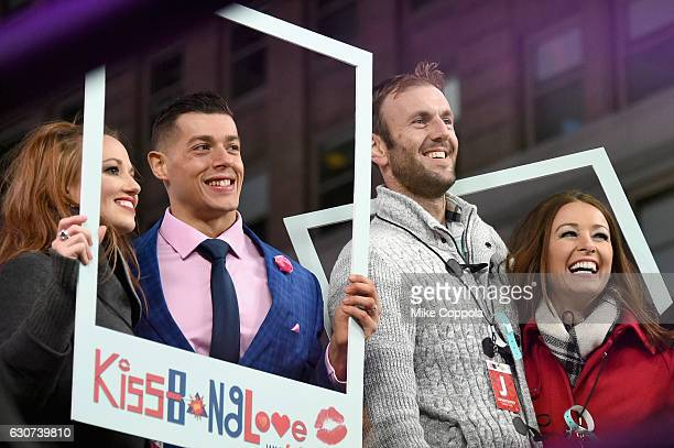 Cortney Hendrix Jason Carrion Doug Hehner and Jamie Otis of Married At First Sight Season 1 attend The FYI Network presents Kiss Bang Love during New...