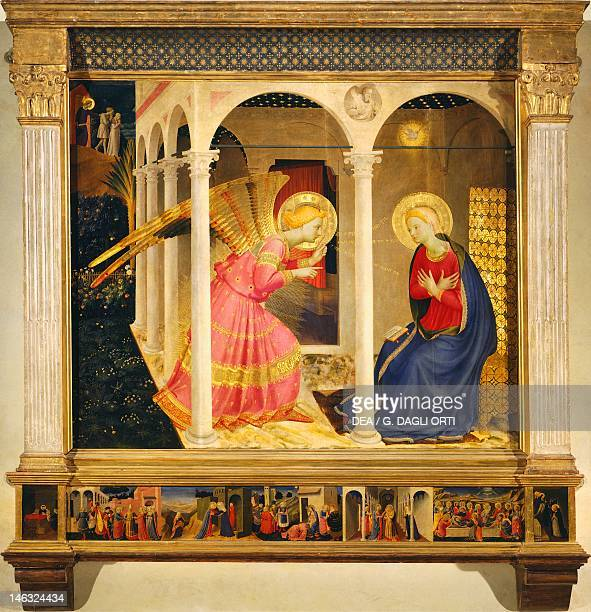 Cortona Museo Diocesano Annunciation of Cortona ca 1430 by Giovanni da Fiesole known as Fra Angelico tempera on wood 175x180 cm