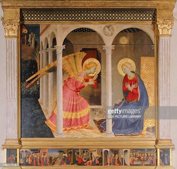 Cortona Museo Diocesano The Annunciation 14331436 by Giovanni da Fiesole known as Fra Angelico tempera on panel 175x180 cm