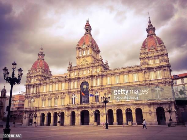 a coruña city hall - a coruña stock pictures, royalty-free photos & images