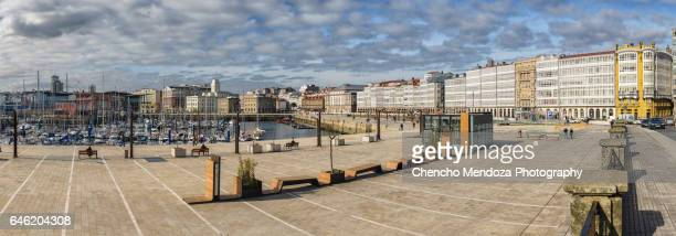 a coruña, the glass town. - a coruña stock pictures, royalty-free photos & images