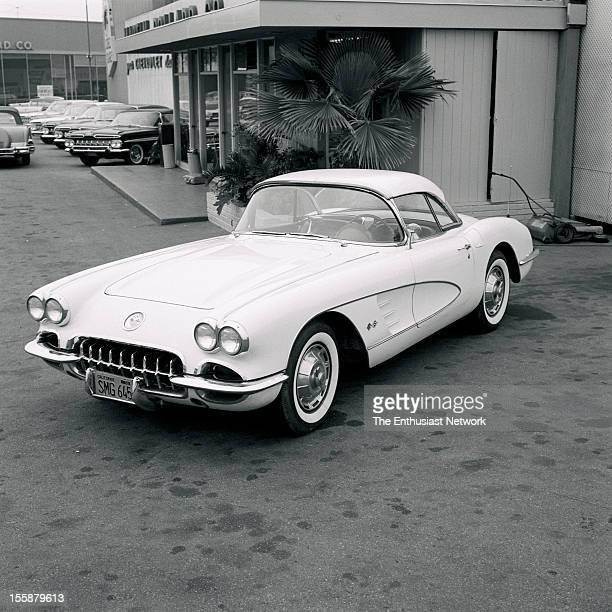 Corvette. The '59 Corvette differs little from the '58 in appearance, but has been stripped of some superfluous trim. Those blank areas in each...