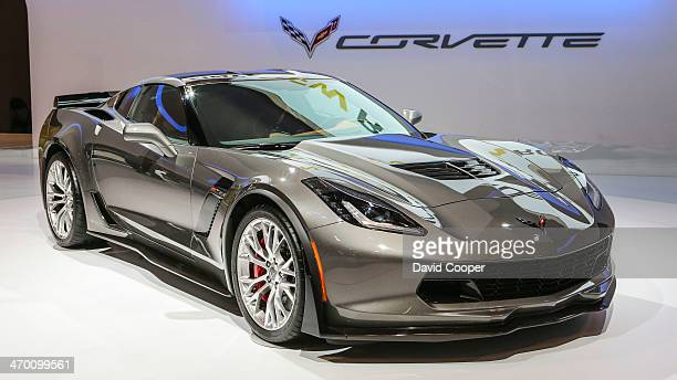 Corvette Z06 shows off in the Chevrolet booth during the first day of the Canadian International Auto Show