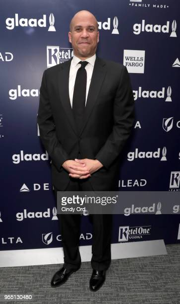 Cory Booker attends the 29th Annual GLAAD Media Awards at The Hilton Midtown on May 5 2018 in New York City