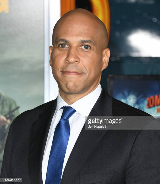 Cory Booker attends the premiere of Sony Pictures' Zombieland Double Tap at Regency Village Theatre on October 10 2019 in Westwood California