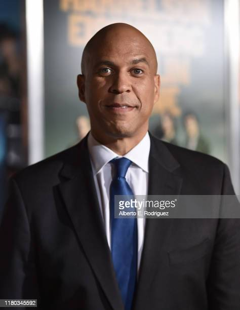 Cory Booker attends the premiere of Sony Pictures' Zombieland Double Tap at The Regency Village Theatre on October 10 2019 in Westwood California