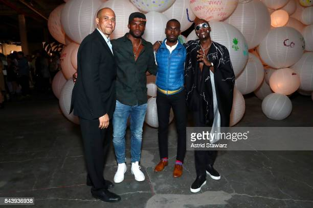 Cory Booker Broderick Hunter DeRay Mckesson and Young Paris attend the Refinery29 Third Annual 29Rooms Turn It Into Art event on September 7 2017 in...