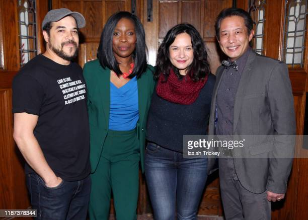 Cory Bowles, Lanette Ware-Bushfield, Sarah Podemski and Russell Yuen attend Listen And Learn at Kingston Road United Church on December 8, 2019 in...