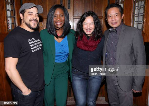 Cory Bowles Lanette WareBushfield Sarah Podemski and Russell Yuen attend Listen And Learn at Kingston Road United Church on December 8 2019 in...