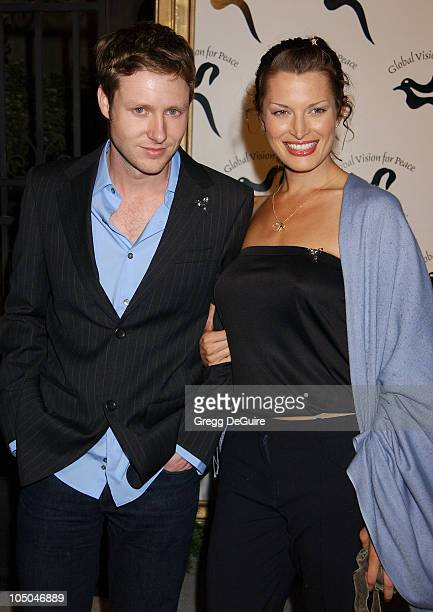 Cory Brannan Amanda Tosch during Global Vision For Peace Party at Talmadge Estate in Los Feliz California United States