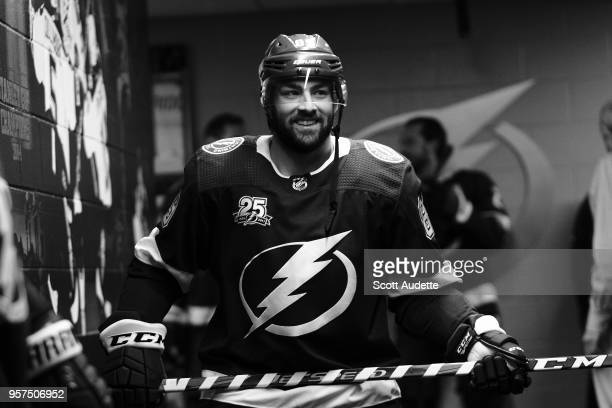 Cory Conacher of the Tampa Bay Lightning gets ready for the game against the Washington Capitals during Game One of the Eastern Conference Final...