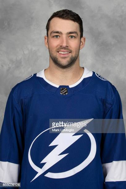 Cory Conacher of the Tampa Bay Lightning poses for his official headshot for the 20172018 season on September 14 2017 at Amalie Arena in Tampa Florida