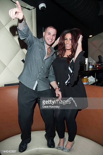 Cory Eps and Tracy Dimarco attends at Chris Michaels Steakhouse on May 11 2012 in Woodbridge New Jersey