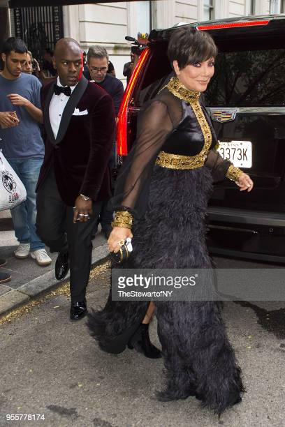 Cory Gamble and Kris Jenner are seen at The Pierre Hotel in Midtown on May 7 2018 in New York City