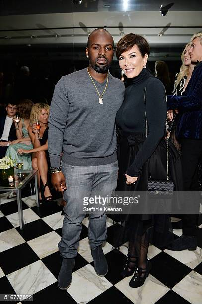 Cory Gamble and Kris Jenner attend The Daily Front Row Fashion Los Angeles Awards Private Dinner Hosted By Eva Chow And Carine Roitfeld at Mr Chow on...
