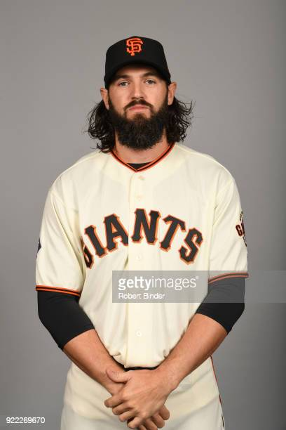 Cory Gearrin of the San Francisco Giants poses during Photo Day on Tuesday February 20 2018 at Scottsdale Stadium in Scottsdale Arizona
