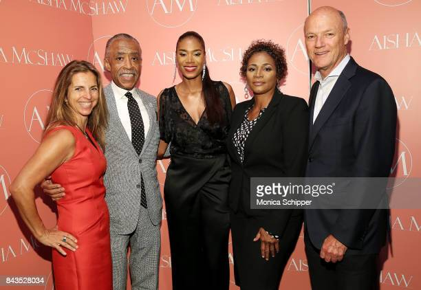 Cory Griffin Al Sharpton designer Aisha McShaw Judith and Phil Griffin attend the Aisha McShaw Women's Ready to Wear Spring/Summer '18 Collection...