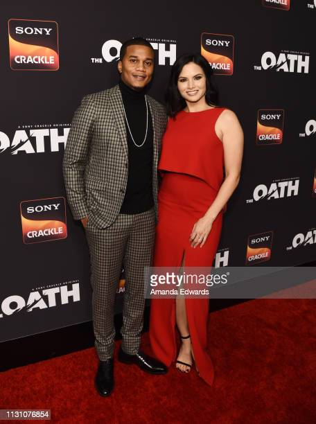 Cory Hardrict and Katrina Law arrive at Sony Crackle's 'The Oath' Season 2 exclusive screening event at Paloma on February 20 2019 in Los Angeles...
