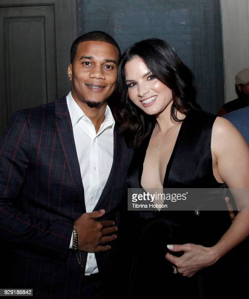 Cory Hardrict and Katrina Law attend the premiere of Crackle's 'The Oath' after party at Sony Pictures Studios on March 7 2018 in Culver City...