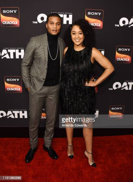 Cory Hardrict and Tia Mowry arrive at Sony Crackle's 'The Oath' Season 2 exclusive screening event at Paloma on February 20 2019 in Los Angeles...