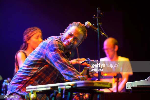 Cory Henry of Cory Henry The Funky Apostles performs on stage at Sala Barts on July 19 2018 in Barcelona Spain