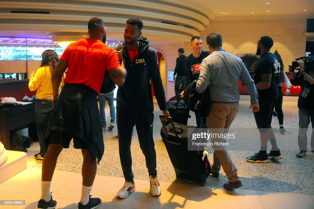 Cory Higgins, #22 of CSKA Moscow during the CSKA Moscow Arrival to participate of 2018 Turkish Airlines EuroLeague F4 at Hyatt Regency Hotel on May 16, 2018 in Belgrade, Serbia.