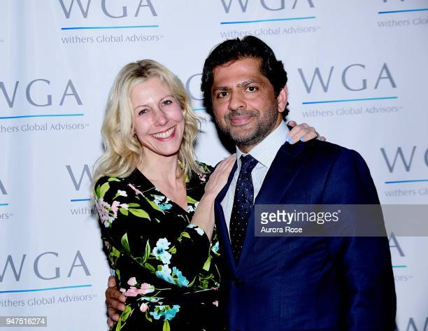 Cory Jafri and Reaz Jafri attend Launch Of New Entity Withers Global Advisors at 432 Park Avenue on April 3 2018 in New York City Cory JafriReaz Jafri