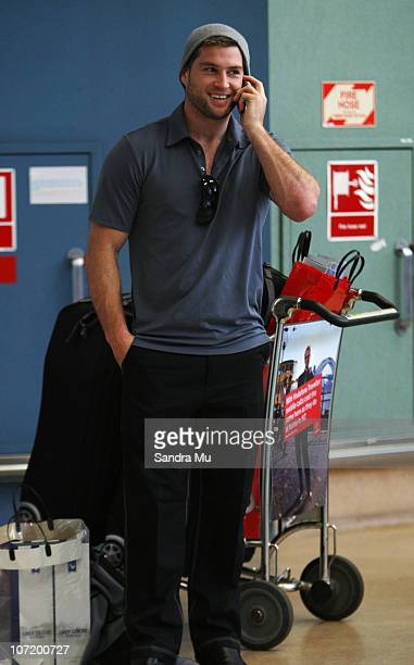 Cory Jane of the All Blacks arrives home at Auckland International Airport following the New Zealand All Blacks successful Grand Slam Spring Tour of...