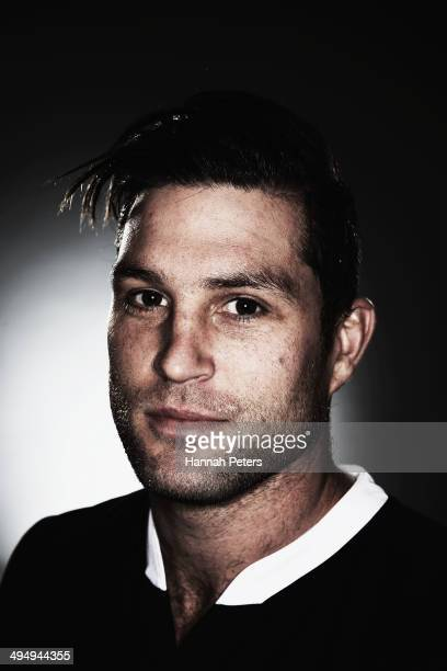 Cory Jane of the All Blacks poses during a New Zealand All Blacks portrait session on May 26 2014 in Wellington New Zealand