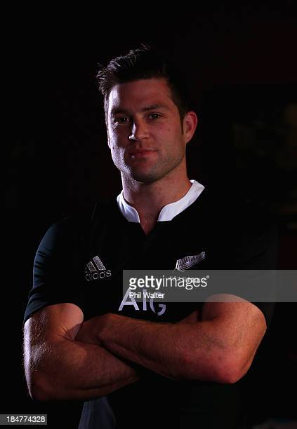 Cory Jane of the All Blacks poses for a portrait during a New Zealand All Blacks portrait session at the Southern Cross Hotel on October 16 2013 in...