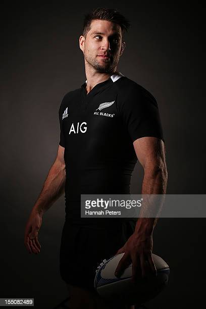 Cory Jane poses during a New Zealand All Blacks portrait session at the Heritage Hotel on November 1 2012 in Auckland New Zealand