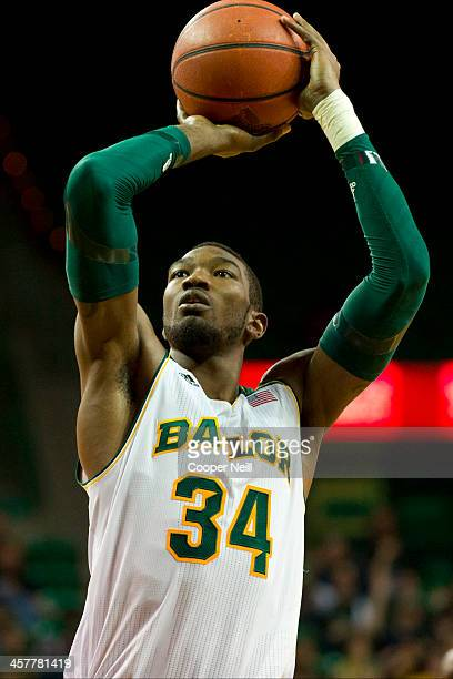 Cory Jefferson of the Baylor Bears shoots a freethrow against the Northwestern State Demons on December 18 2013 at the Ferrell Center in Waco Texas