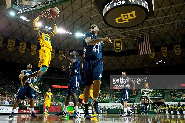 Cory Jefferson of the Baylor University Bears dunks the ball against the Jackson State University Tigers on November 11 2012 at the Ferrell Center in...