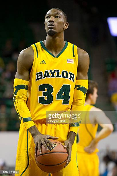 Cory Jefferson of the Baylor University Bears shoots a freethrow against the Jackson State University Tigers on November 11 2012 at the Ferrell...