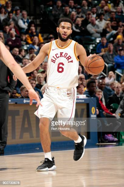 Cory Joseph of the Indiana Pacers handles the ball against the Milwaukee Bucks on January 8 2018 at Bankers Life Fieldhouse in Indianapolis Indiana...