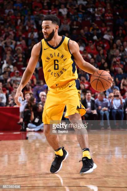 Cory Joseph of the Indiana Pacers handles the ball against the Houston Rockets on November 29 2017 at the Toyota Center in Houston Texas NOTE TO USER...