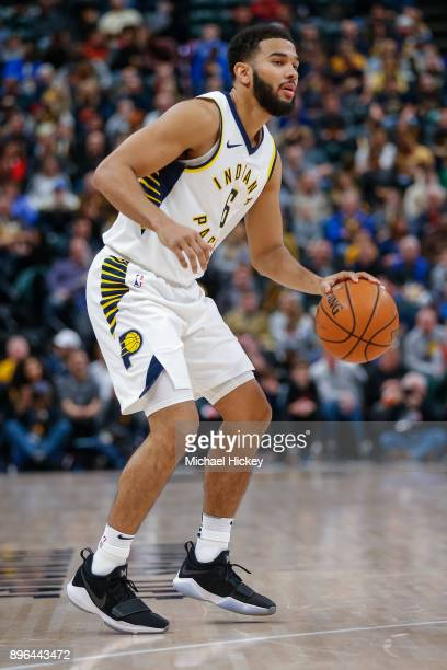 Cory Joseph of the Indiana Pacers is seen during the game Denver Nuggets at Bankers Life Fieldhouse on December 10 2017 in Indianapolis Indiana NOTE...