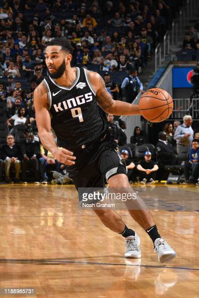 Cory Joseph of the Sacramento Kings handles the ball against the Golden State Warriors on December 15 2019 at Chase Center in San Francisco...