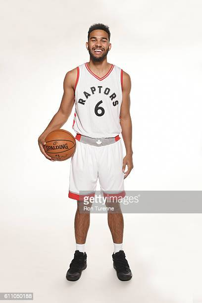 Cory Joseph of the Toronto Raptors poses for a portrait during 2016 Media Day on September 28 2016 at the BioSteel Centre in Toronto Ontario Canada...