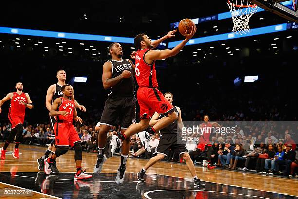 Cory Joseph of the Toronto Raptors shoots against the Brooklyn Nets during their game at the Barclays Center on January 6 2016 in New York City NOTE...