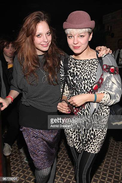 Cory Kennedy and guest attend the Alexa Chung for Madewell Collection Launch Fall 2010 at the Bowery Hotel on February 15 2010 in New York City