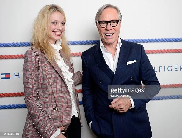 Cory Kennedy and Tommy Hilfiger backstage during Tommy Hilfiger Presents Spring 2013 Women's Collection at Highline Ballroom on September 9 2012 in...