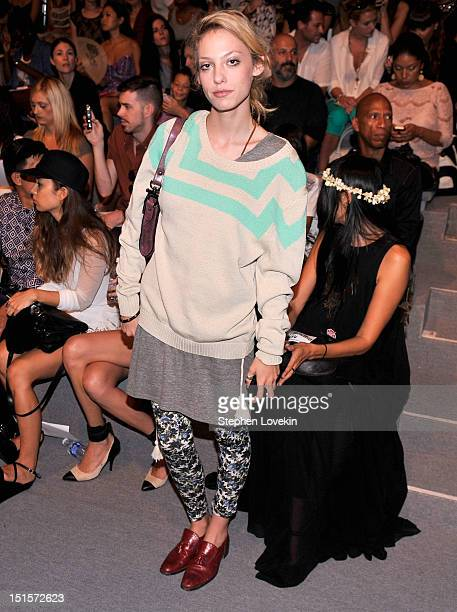 Cory Kennedy attends the Mara Hoffman Spring 2013 fashion show during MercedesBenz Fashion Week at The Stage Lincoln Center on September 8 2012 in...