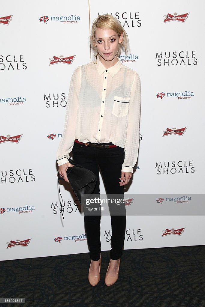 Cory Kennedy attends the 'Muscle Shoals' New York screening at Landmark Sunshine Cinemas on September 19, 2013 in New York City.