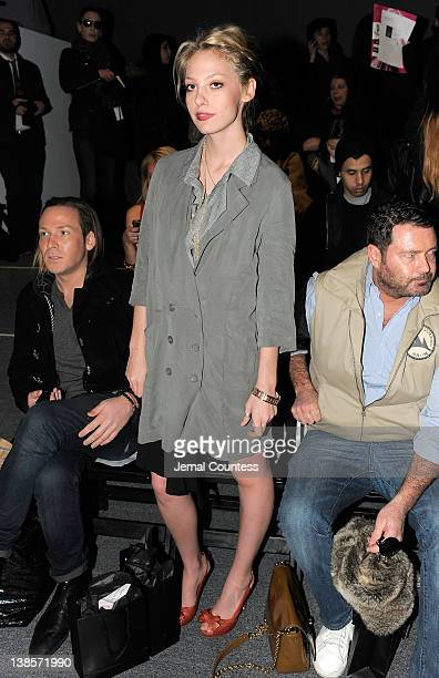 Cory Kennedy attends the Nicholas K Fall 2012 fashion show during MercedesBenz Fashion Week at The Studio at Lincoln Center on February 9 2012 in New...