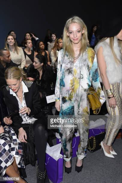 Cory Kennedy attends the Noon By Noor Fall 2013 fashion show during MercedesBenz Fashion at The Studio at Lincoln Center on February 8 2013 in New...