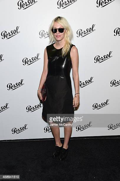 Cory Kennedy attends the Persol Icons Collection launch with Stéphane Sednaoui at Art Beam on November 13 2014 in New York City