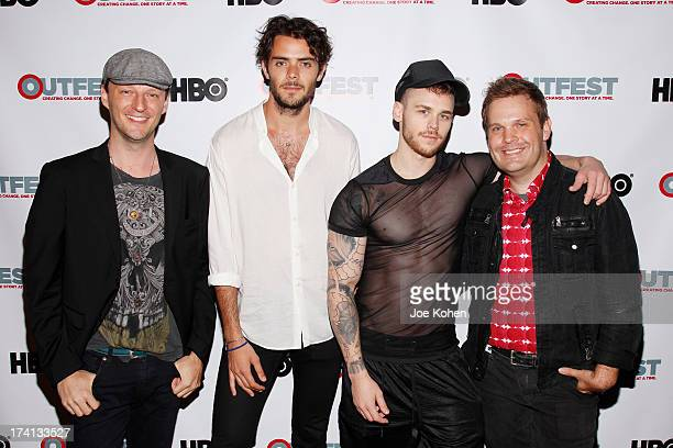 "Cory Kruckeberg, Tanner Cohen, Matthew Camp and Tom Gustafson attends he 2013 Outfest Film Festival Screening Of ""The Go Doc Party"" at Directors..."