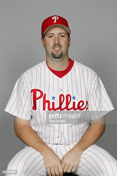 Cory Lidle of the Philadelphia Phillies poses for a portrait during photo day at Bright House Networks Field on February 24, 2005 in Clearwater,...