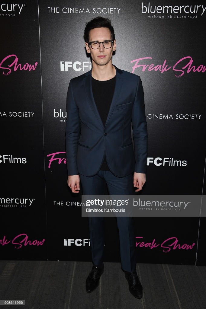 Cory Michael Smith attends the premiere of IFC Films' 'Freak Show' hosted by The Cinema Society at Landmark Sunshine Cinema on January 10, 2018 in New York City.